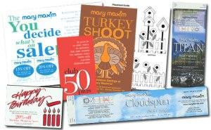 Mary Maxim marketing materials