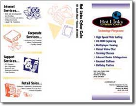 Hot Links Cyber Cafe brochure