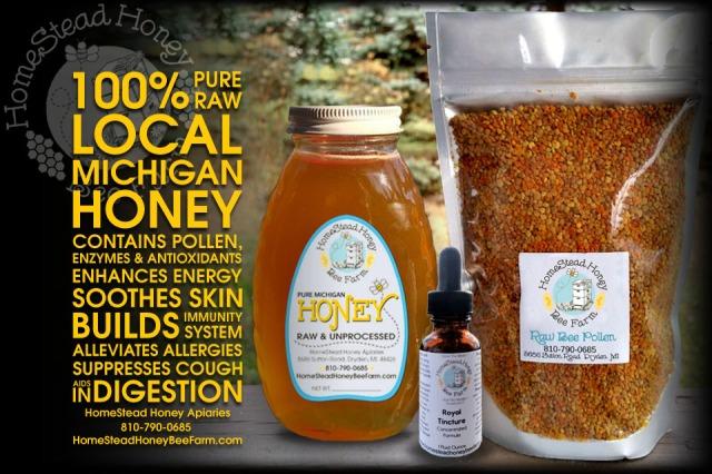 HomeStead Honey Bee Farm digital ad   Lyn Baxter Digital Design