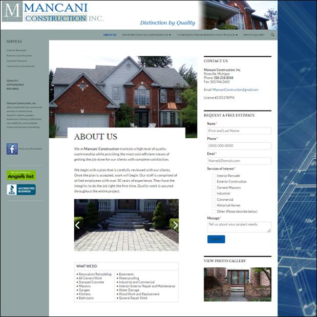 MancaniConstruction.com